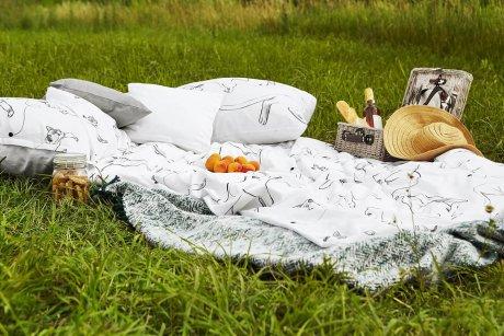 pościel koty piknik