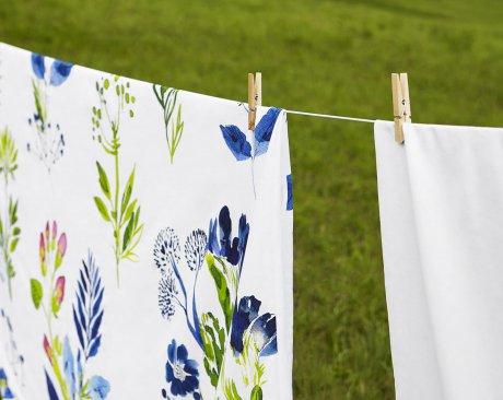 white pocket pościel w kwiaty