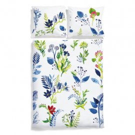 flower bedding white pocket