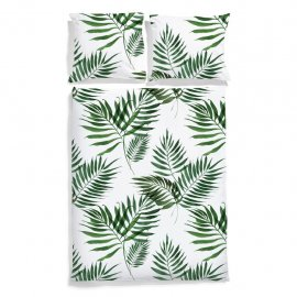 palm trees bedding white pocket