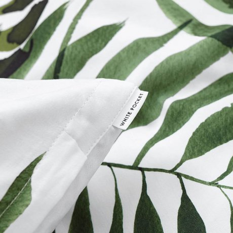 palm treesb bedding white pocket