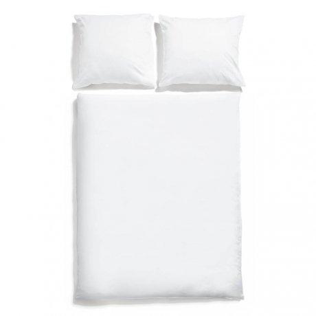 pościel biała satyna bawełniana white pocket