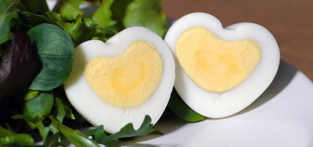 jajka w kształcie serca