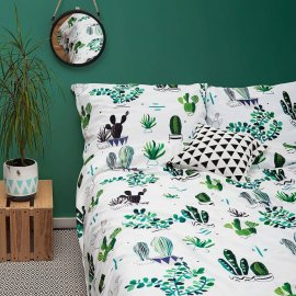 cactus bedding white pocket