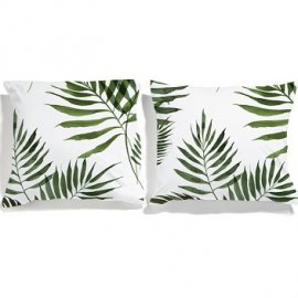 palm trees pillowcases white pocket