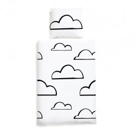clouds bedding whte pocket