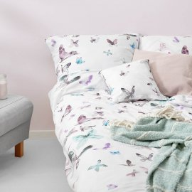 butterfly bedding white pocket