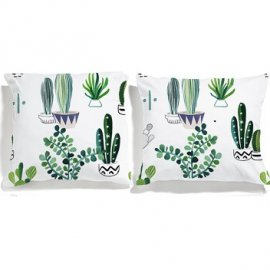 cactus pillowcases white pocket