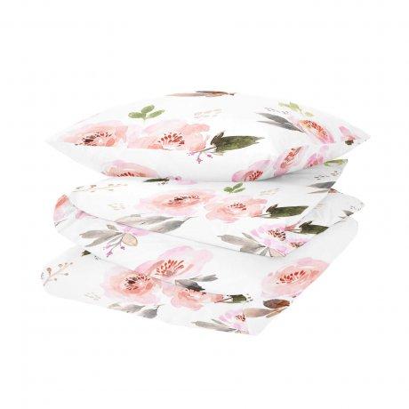 pościel w róże white pocket