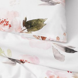 roses bedding white pocket