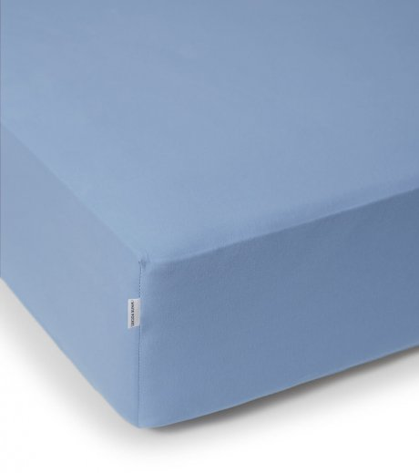 blue fitted sheet white pocket
