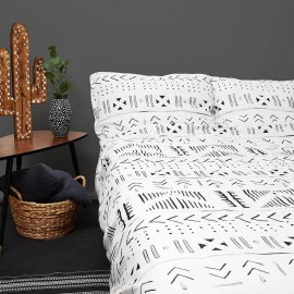 aztec bedding white pocket