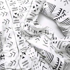 pościel aztec white pocket wzór aztecki
