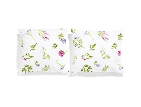meadow pillowcases set white pocket