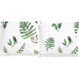 fern pillowcases set white pocket