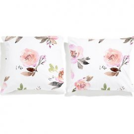 roses pillowcases set white pocket