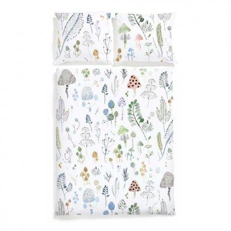 magic forest bedding white pocket