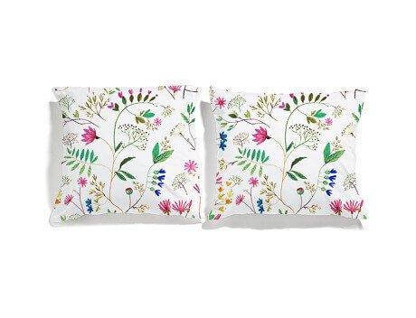poszewki kwiatki white pocket