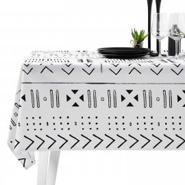 aztec tablecloth white pocket