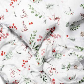 christmas bedding white pocket