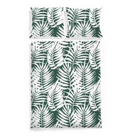 pościel w palmy white pocket