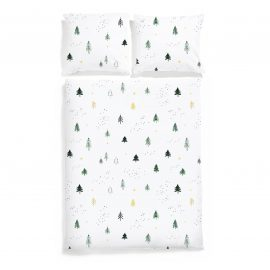 christmas trees bedding white pocket