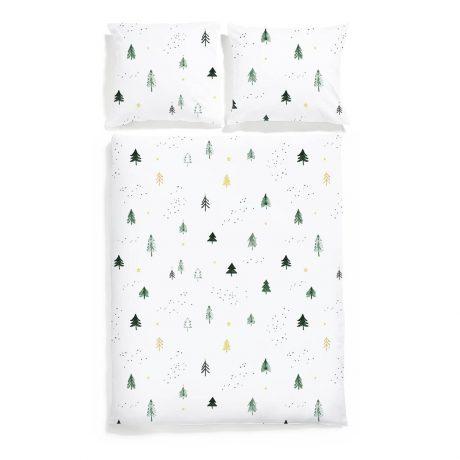 pościel świąteczna choinki white pocket