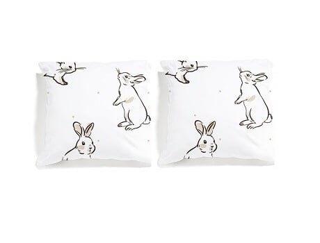 poszewki w króliki white pocket
