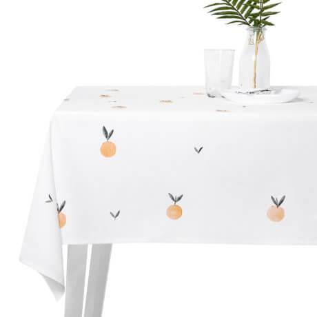 obrus mandarynki white pocket