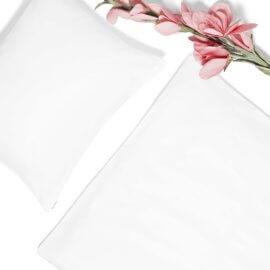 pościel biała z satyny bawełnianej white pocket