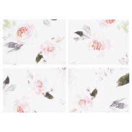 zestaw podkładek na stół róże white pocket