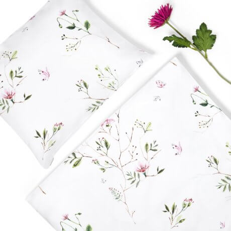 cotton sateen bedding garden