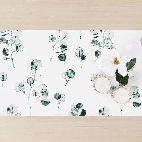 bieznik w liście eukaliptusa white pocket
