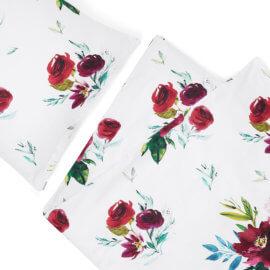 posciel kwiaty bukiety white pocket