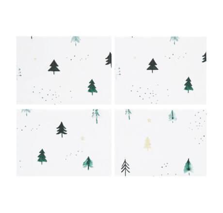świąteczne podkładki na stół choinki white pocket