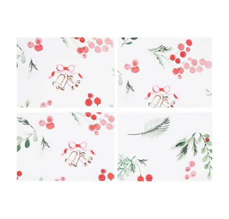 podkładki świąteczne na stół white pocket