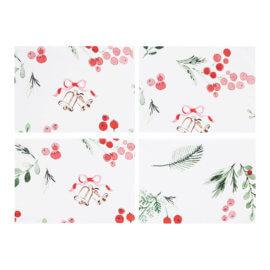 podkładki na stół świąteczne white pocket