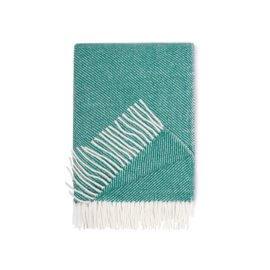 koc wełniany zielony white pocket