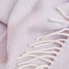 wełnianany liliowy koc white pocket