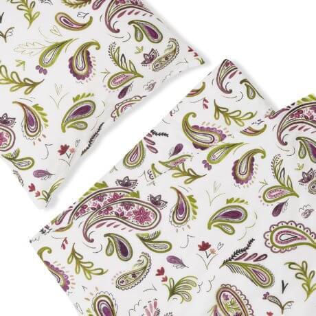 pościel paisley white pocket
