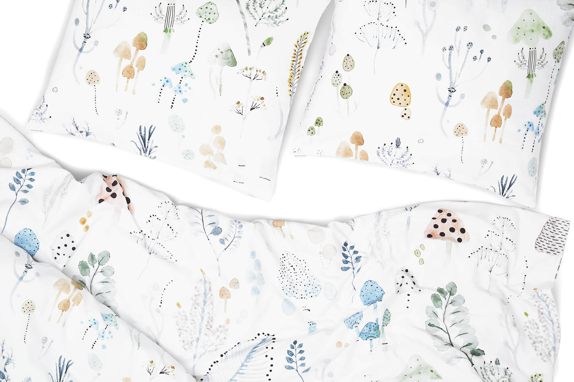 pościel zaczarowany las white pocket