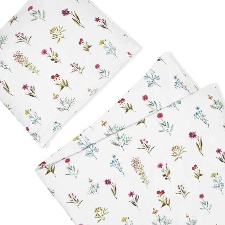 pościel w polne kwiatki white pocket