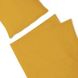 pościel musztardowa basic white pocket