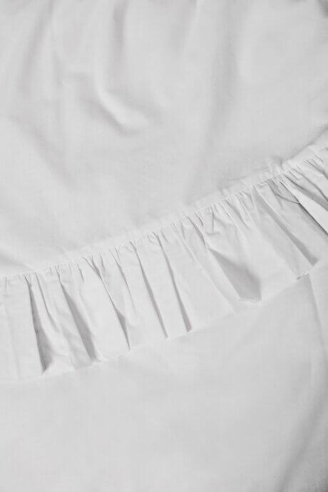pościel z falbankami white pocket biała