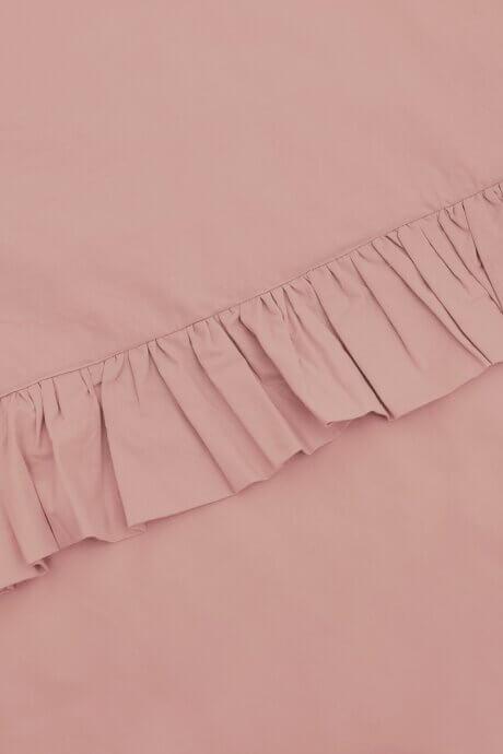 pościel z falbanką white pocket rożowa
