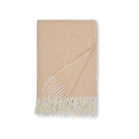 koc wełniany piaskowy white pocket