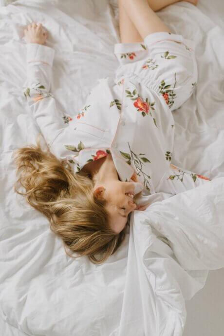 piżama dzika róża