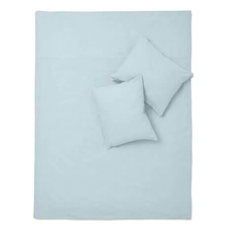 błękitna pościel z bawełny white pocket