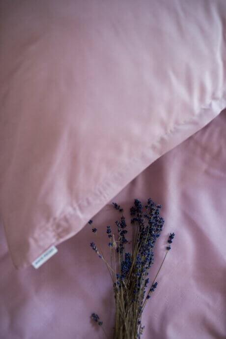 pościel lila róż bawełna white pocket