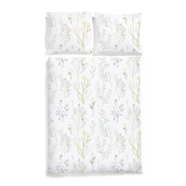 alepjskie kwiaty posciel bawełniana white pocket